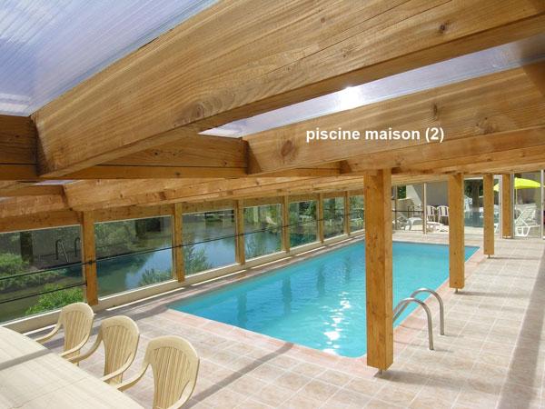 Gite avec piscine couverte chauff e aveyron les r sidences de bois richard - Gite dans les landes avec piscine ...