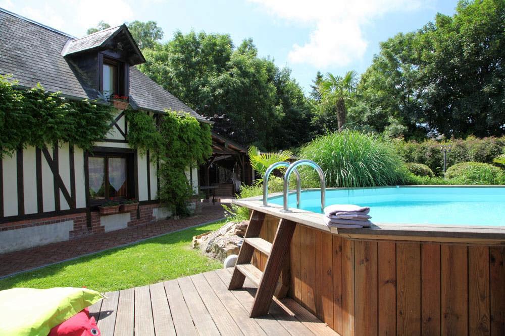 Gite avec piscine chauff e eure a la palmeraie for Piscine 1m20