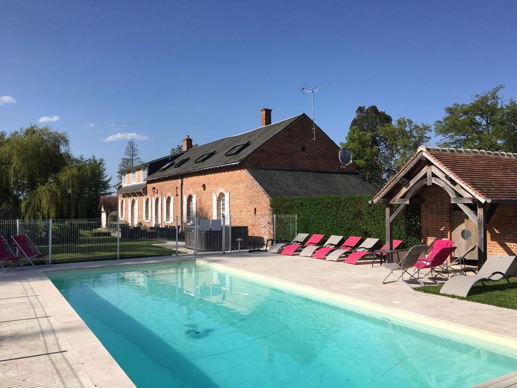 Gite avec piscine chauff e loir et cher gites de for Camping loir et cher avec piscine